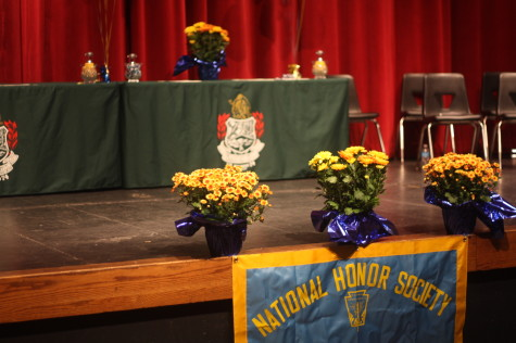 National Honor Society inducts 99 new members.