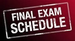Finals Schedule 2016