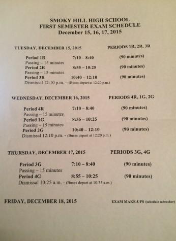 2015 Finals Schedule