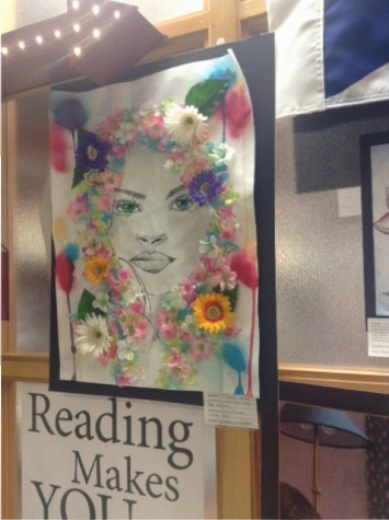 Students Create Flower Installations Throughout The Library