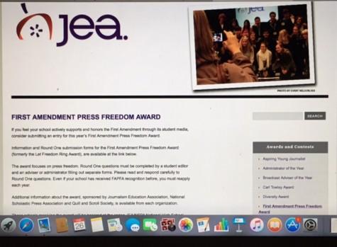 Smoky Hill Publication Wins the First Amendment Press Freedom Award