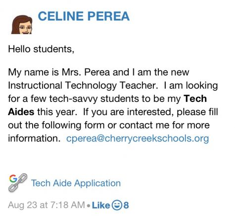 Student Tech Aid Opportunity