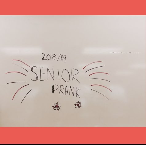 The 2018/19 Senior prank