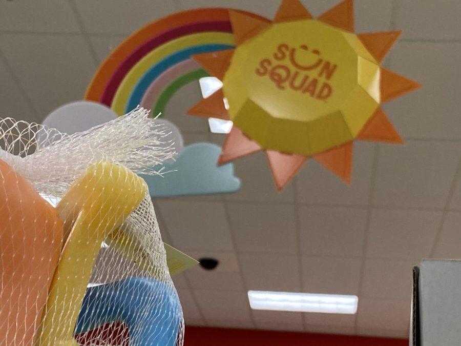 A summer display at a Target