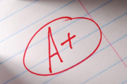 An A+ Letter Grade